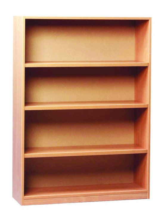 Open Bookcase 18mm FSC Certified Beech MFC - 1 Fixed And 2 Adjustable
