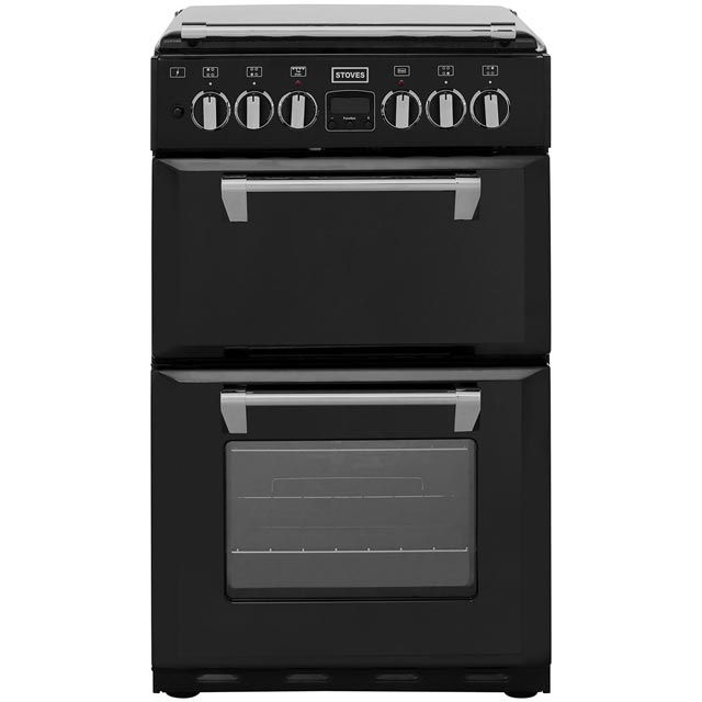 Stoves Mini Range RICHMOND550DFW 55cm Dual Fuel Cooker - Black - A Rated - Needs 4.9KW Electrical Connection