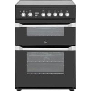 Indesit Advance ID60C2KS Electric Cooker with Ceramic Hob - Black - B/B Rated   AO SALE