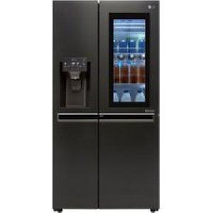 LG InstaView™ Door-in-Door™ GSX960MCVZ Wifi Connected American Fridge Freezer - Matte Black - A++ Rated   AO SALE