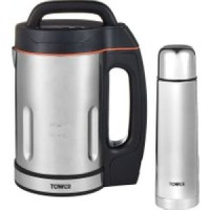 Tower T12055BF 1.6 Litre Soup Maker - Stainless Steel   AO SALE