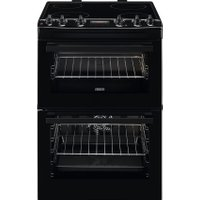 Zanussi ZCV66250BA 60cm Electric Cooker with Ceramic Hob - Black - A/A Rated   AO SALE