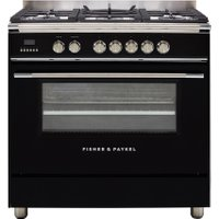 Fisher & Paykel Classic OR90SCG4B1 90cm Dual Fuel Range Cooker - Black - A Rated   AO SALE