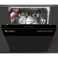 Hoover H-DISH 300 HDSN1L380PB Wifi Connected Semi Integrated Standard Dishwasher - Black Control Panel with Fixed Door Fixing Kit - A+ Rated AO SALE