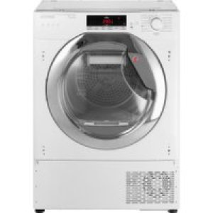 Hoover H-DRY 700 HTDBWH7A1TCE Integrated Wifi Connected 7Kg Heat Pump Tumble Dryer - White / Chrome - A+ Rated   AO SALE