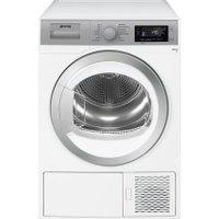Smeg DHT91LUK 9Kg Heat Pump Tumble Dryer - White - A+ Rated   AO SALE