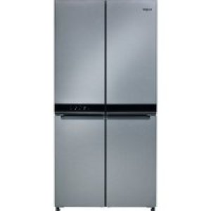 Whirlpool WQ9B1L1 American Fridge Freezer - Stainless Steel Effect - A+ Rated   AO SALE