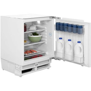 Amica UC150.3 Integrated Under Counter Fridge - Fixed Door Fixing Kit - White - A+ Rated  AO SALE