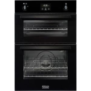 Stoves BI900G Built In Gas Double Oven with Full Width Electric Grill - Black - A/A Rated AO SALE