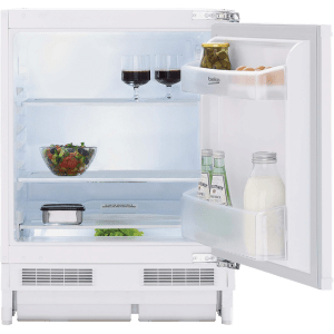 Beko BLSF3682 Integrated Under Counter Fridge - Fixed Door Fixing Kit - White - A+ Rated  AO SALE