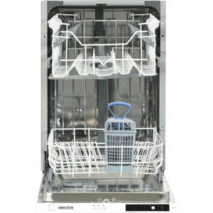 Electra C4510I Fully Integrated Slimline Dishwasher - Black Control Panel with Fixed Door Fixing Kit - A++ Rated  AO SALE
