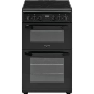 Hotpoint Cloe HD5V93CCB 50cm Electric Cooker with Ceramic Hob - Black - A Rated AO SALE