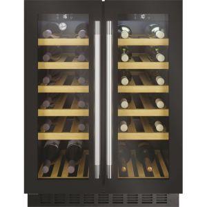 Hoover H-WINE 700 HWCB60DUK Built Under Wine Cooler - Black Glass / Steel - D Rated  AO SALE