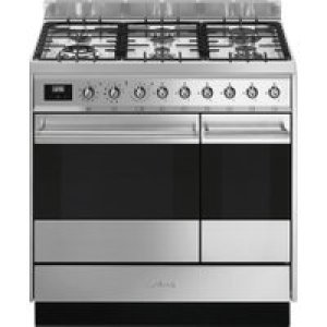 Smeg SY92PX9 90cm Symphony Dual Fuel Pyrolytic Range Cooker - STAINLESS STEEL