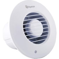 Xpelair DX100BTR 4 inch (100mm) Simply Silent Round Bathroom Fan-Timer Round, Cool White