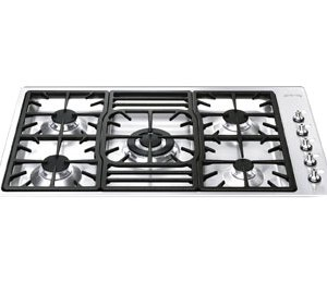 Smeg PGF95-4 87cm Gas Hob - Stainless Steel  AO SALE