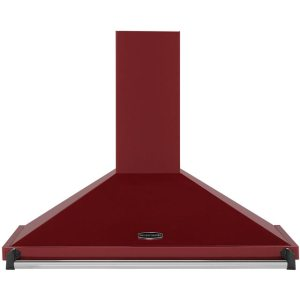 Rangemaster Classic CLAHDC90CY/C 90 cm Chimney Cooker Hood - Cranberry / Chrome - E Rated  AO SALE