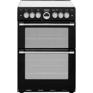 Stoves Sterling STERLING600G 60cm Gas Cooker with Full Width Electric Grill - Black - A/A Rated  AO SALE