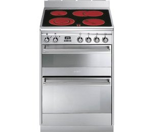 Smeg Concert SUK62CMX8 60cm Electric Cooker with Ceramic Hob - Stainless Steel - A/A Rated  AO SALE
