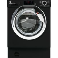 Hoover HBWS48D3ACBE Integrated Washing Machine with 1400 rpm - Black - A+++ Rated