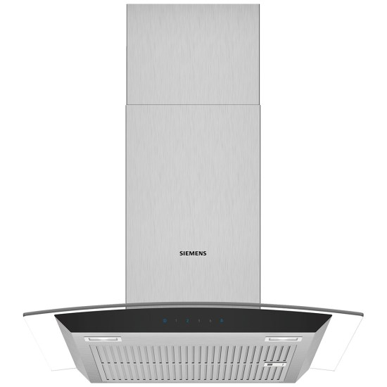 Siemens LC67AFM50B IQ-300 60cm Chimney Hood With Glass Canopy - STAINLESS STEEL