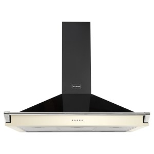 Stoves S900RICHCHIMRAILCRM 90cm Chimney Hood With Rail - CREAM