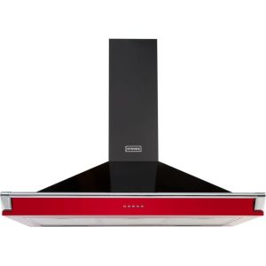 Stoves S1000 RICH CHIM RAIL 100 cm Chimney Cooker Hood - Hot Jalapeno - A Rated