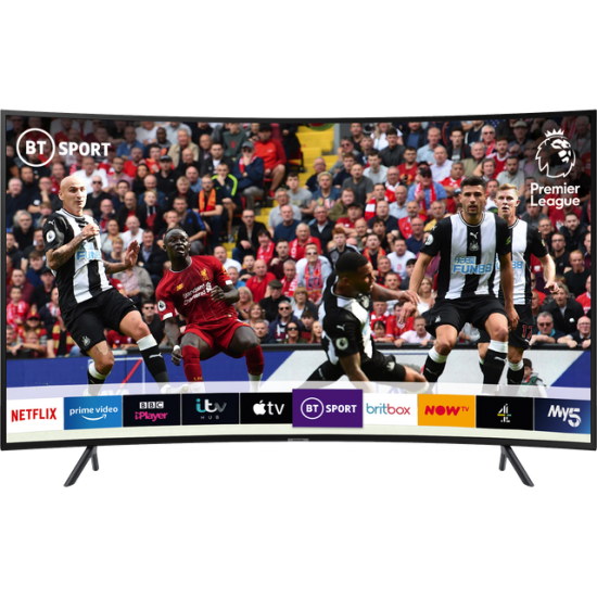 "Samsung UE49RU7300 49"" Curved Smart 4K Ultra HD TV with HDR10+, Apple TV App and Slim Design"