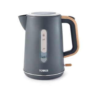 Tower T10037G Scandi 3kW Rapid Boil and Boil Dry Potected 1.7L Kettle - Grey