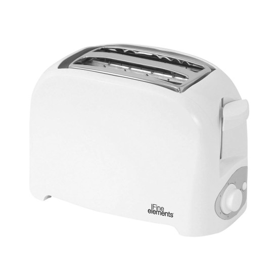 Fine Elements SDA1008GE 200W 2-Slice Plastic Toaster - White