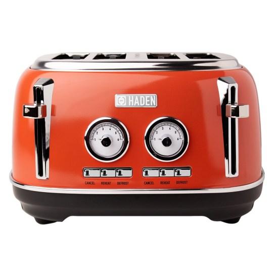 Haden Jersey 1630W 4 Slice Toaster - Marmalade