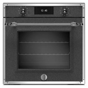 Bertazzoni F6011HERVPTND Heritage Series Pyrolytic Total Steam Single Oven - BLACK