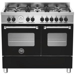 Bertazzoni MAS100-6-MFE-D-NEE 100cm Master Dual Fuel Range Cooker - BLACK