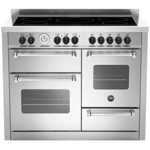 Bertazzoni MAS110-5I-MFE-T-XE 110cm Master Series XG Induction Range Cooker - STAINLESS STEEL