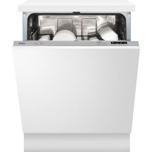Amica ADI630 Fully Integrated Standard Dishwasher - Silver Control Panel with Fixed Door Fixing Kit - A++ Rated