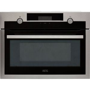 AEG KME525800M Built In Microwave With Grill - Black / Stainless Steel