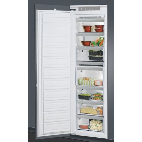 Whirlpool AFB18431 Integrated Frost Free Upright Freezer with Sliding Door Fixing Kit - A+ Rated