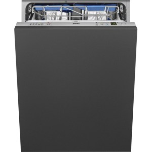 Smeg DI13TF3 Fully Integrated Standard Dishwasher - Silver Control Panel with Sliding Door Fixing Kit - A+++ Rated
