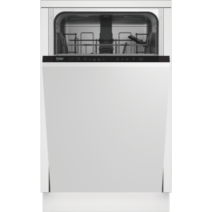 Beko DIS15020 Fully Integrated Slimline Dishwasher - Silver Control Panel with Fixed Door Fixing Kit - A++ Rated
