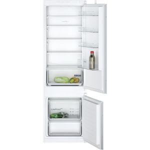 Siemens IQ-100 KI87VNSF0G Integrated 70/30 Fridge Freezer with Sliding Door Fixing Kit - White - A+ Rated