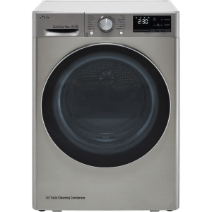 LG V9 FDV909S Wifi Connected 9Kg Heat Pump Tumble Dryer - Silver - A+++ Rated
