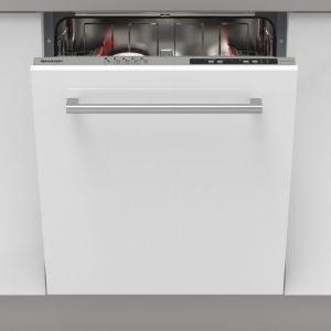 Sharp QW-NI14I47EX-EN Fully Integrated Standard Dishwasher - Silver Control Panel - A++ Rated
