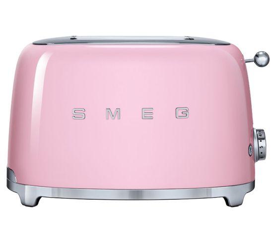 SMEG TSF01PKUK 2-Slice Toaster - Pink, Pink