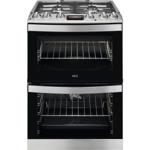 AEG CKB6540ACM 60 cm Dual Fuel Cooker – Stainless Steel, Stainless Steel