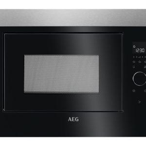 AEG MBE2658SEM Built-in Solo Microwave - Black & Stainless Steel, Stainless Steel
