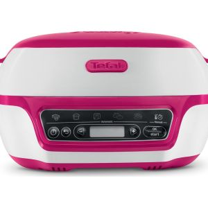 TEFAL Cake Factory KD801840 Precision Mini Oven - White & Pink, White