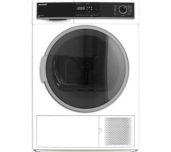 SHARP KD-HHH9S7GW2-EN 9 kg Heat Pump Tumble Dryer - White, White