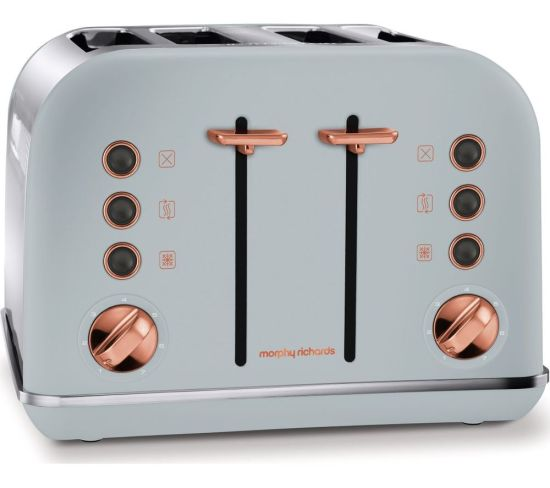MORPHY RICHARDS Accents 242040 4-Slice Toaster - Grey & Rose Gold, Grey