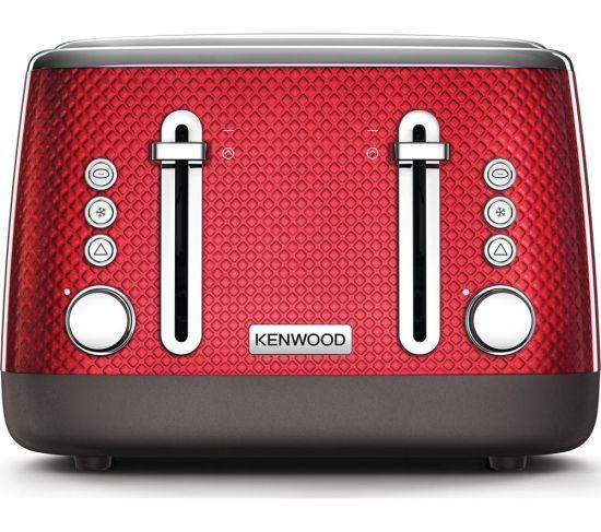 KENWOOD Mesmerine TFM810RD 4-Slice Toaster - Deep Red, Red