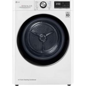 LG FDV909W WiFi-enabled 9 kg Heat Pump Tumble Dryer - White, White